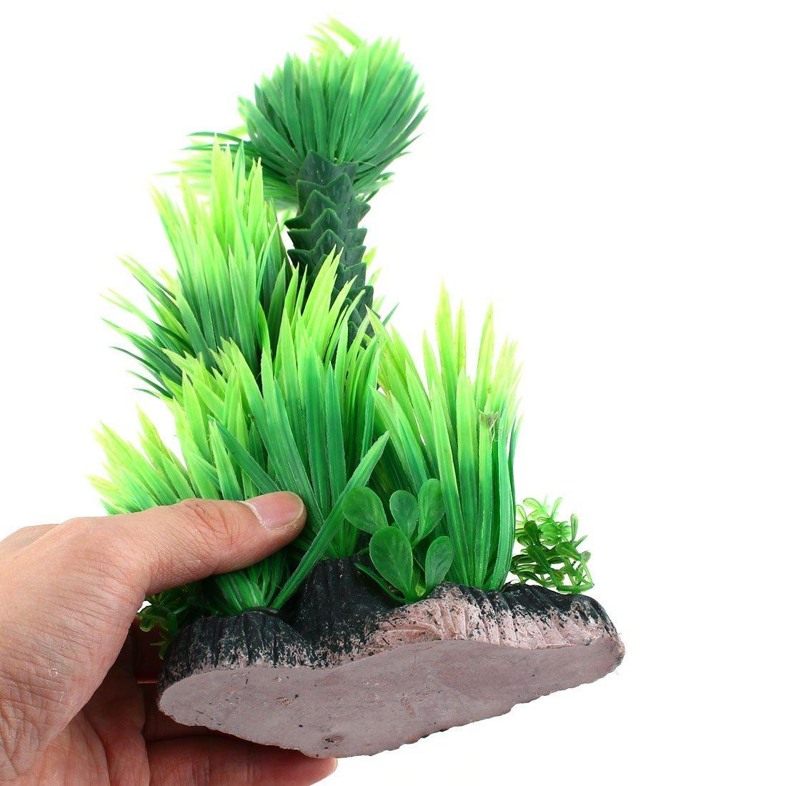 Amazon.com : eDealMax Planta de hierba cerámica acuario Base Artificial Paisaje Submarino 28cm Altura Verde : Pet Supplies