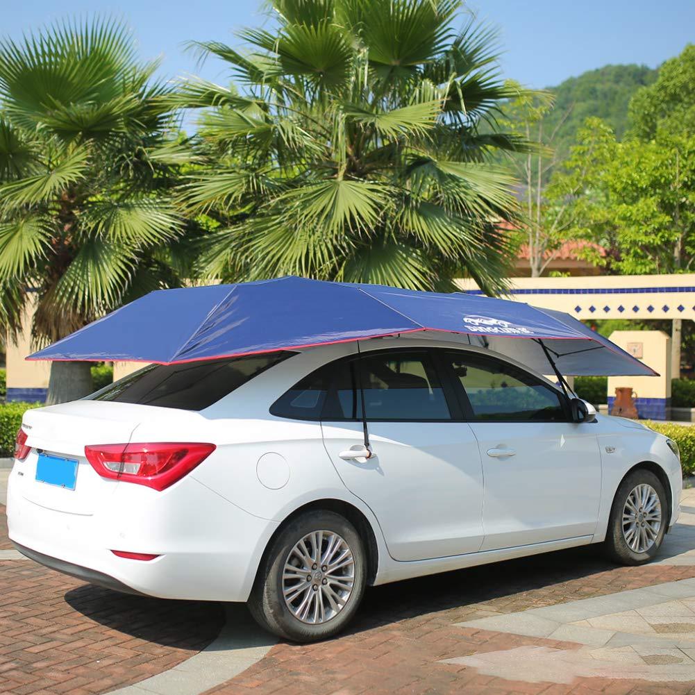 blu navy facile da installare blu navy antivento in tessuto Oxford per picnic antipolvere impermeabile Copertura per auto con bottoni automatici pieghevole ombrello isolante