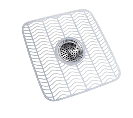Marvelous Rubbermaid Antimicrobial Sink Protector Mat Small Black Waves 1939406 Interior Design Ideas Skatsoteloinfo