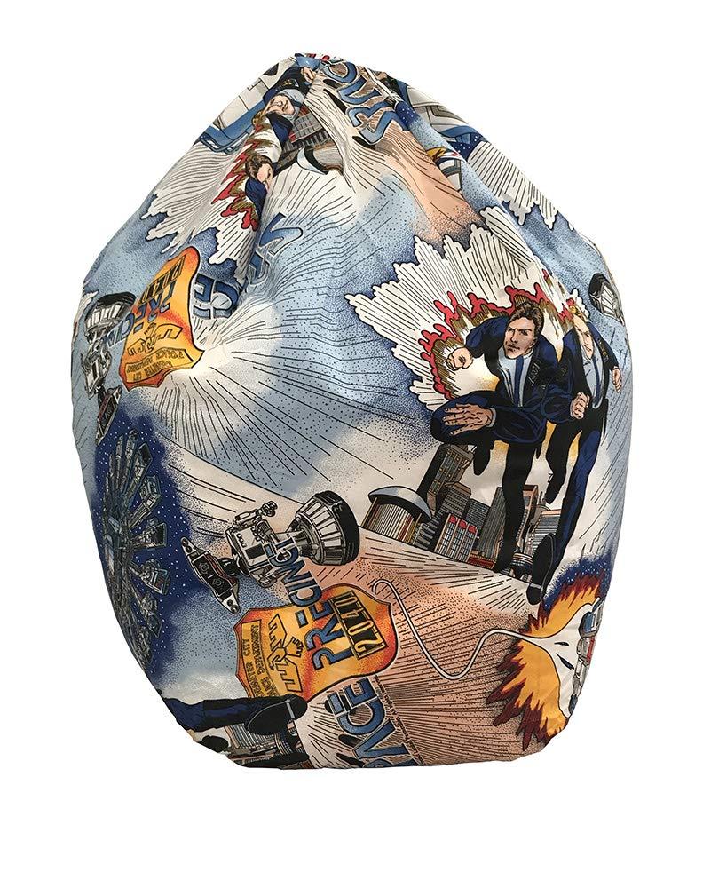 Silla Sacco grande con forma de baló n de fú tbol para niñ os, fá cil de limpiar, hecho de piel sinté tica Lancashire Bedding
