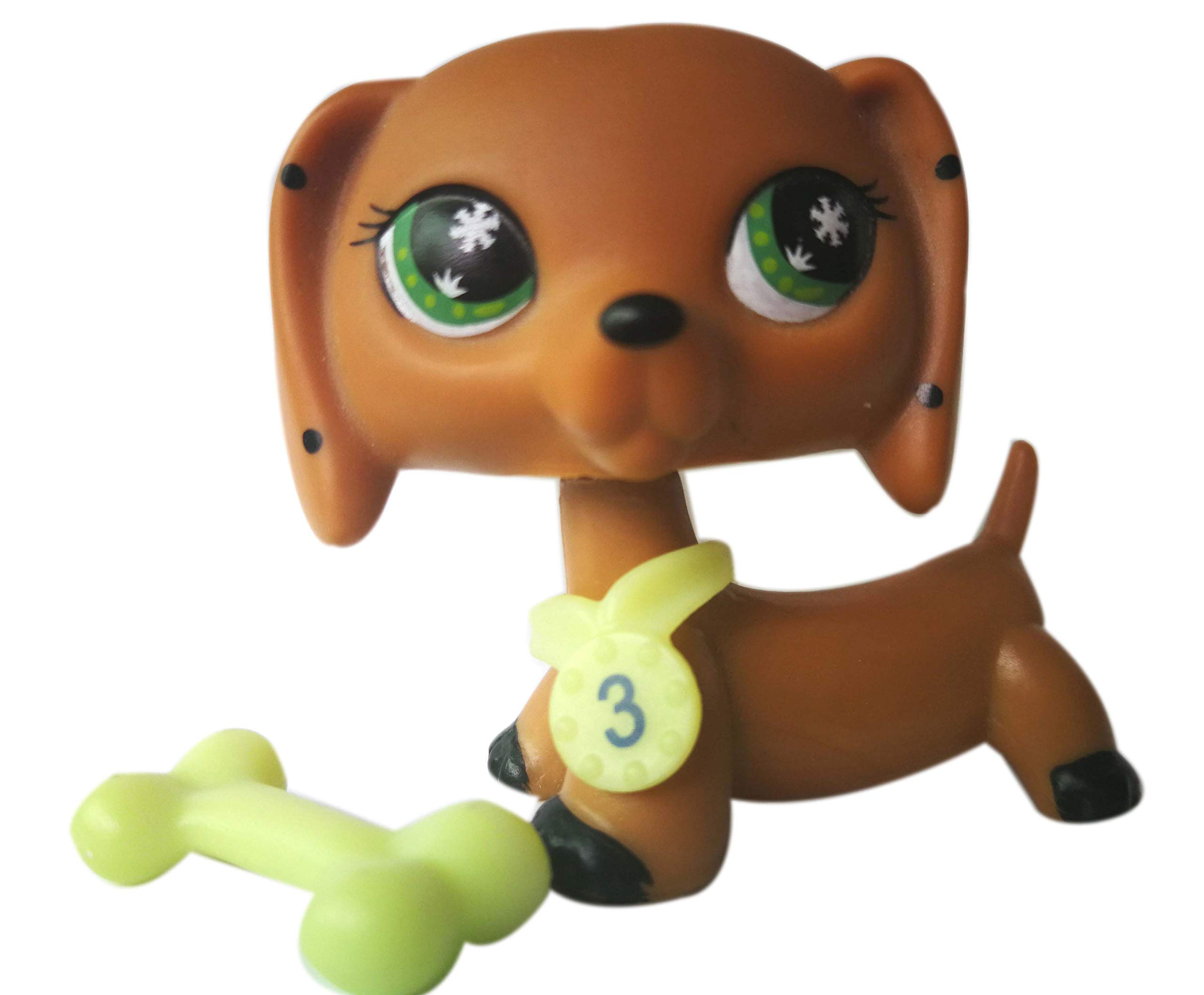 LPSOLD LPS Dachshund Monopoly Brown Green Eyes Dog Puppy with Accessories Action Cartoon Figure Collection Boy Girl Kid Gift