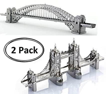 Amazon com: 3D Metal Puzzle Models Of The Tower Bridge Of London And