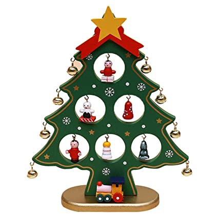 diy cartoon christmas tree decorations cute little tree ornaments for home indoors green