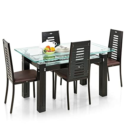 Royaloak County Four Seater Dining Table Set (Brown)