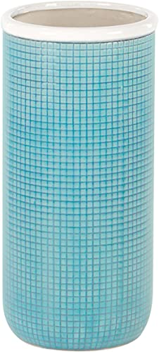 Deco 79 38842 Ceramic Vase, Blue White