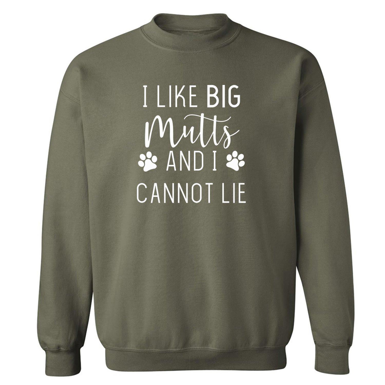 zerogravitee I Like Big Mutts and I Cannot Lie Crewneck Sweatshirt