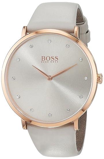 Hugo BOSS Reloj Análogo clásico para Mujer de Cuarzo con Correa en Cuero 1502412: Amazon.es: Relojes