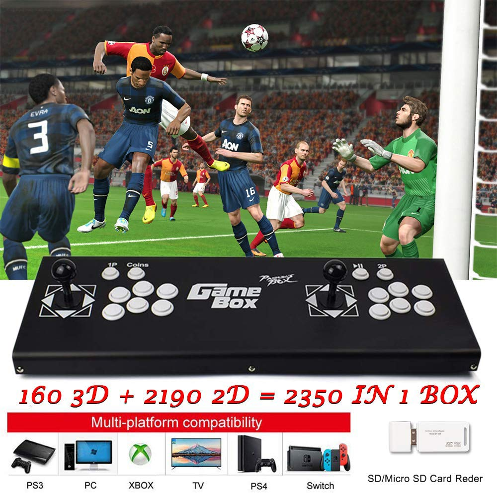 ElementDigital Arcade Game Console 1080P 3D & 2D Games 2350 in 1 Pandora's Box 160 3D Games 2 Players Arcade Machine with Arcade Joystick Support Expand 6000+ Games for PC / Laptop / TV / PS4 by ElementDigital (Image #1)