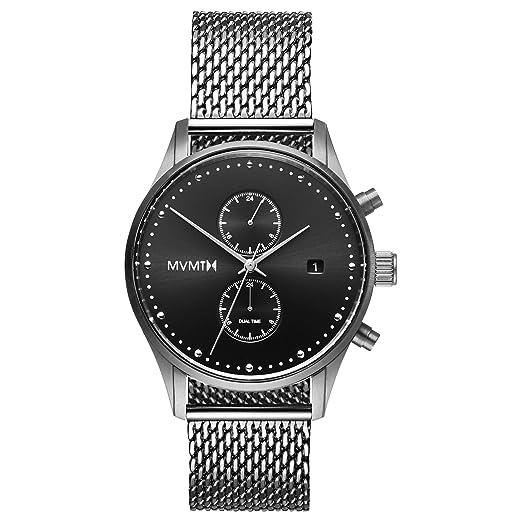 MVMT Reloj Cronógrafo para Hombre de Cuarzo con Correa en Acero Inoxidable D-MV01-S2: Amazon.es: Relojes