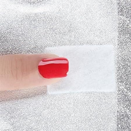 100 Piezas /Paquete El papel De Aluminio Con Esponja Nail Removedor Esmalte Nail Art Cleaner Herramienta De Limpieza De Uña: Amazon.es: Belleza