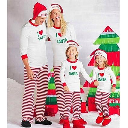 Huplue Juego De Pijamas De Navidad Fiesta De Pijamas Verde Arbol De