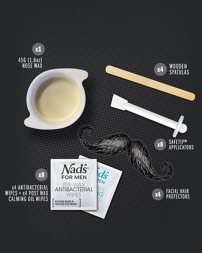 Nads - Cera para pelo de nariz (hombre y mujer, 45 gramos): Amazon.es: Belleza