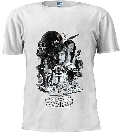Star Wars - Camiseta unisex para hombre, clase de 1977, inspirada en Darth Vader Boba Fett
