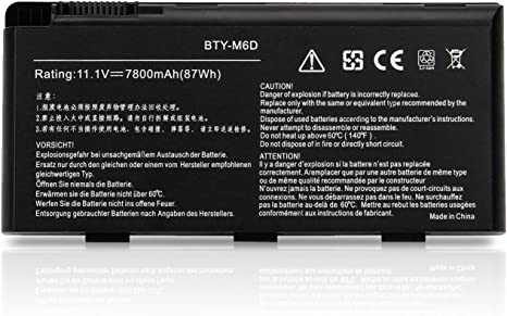 K Kyuer 7800mah Bty M6d Laptop Battery For Medion Amazon Co Uk Electronics