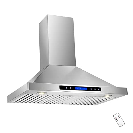 Amazoncom Akdy 36 Convertible Wall Mount Stainless Steel Ductless