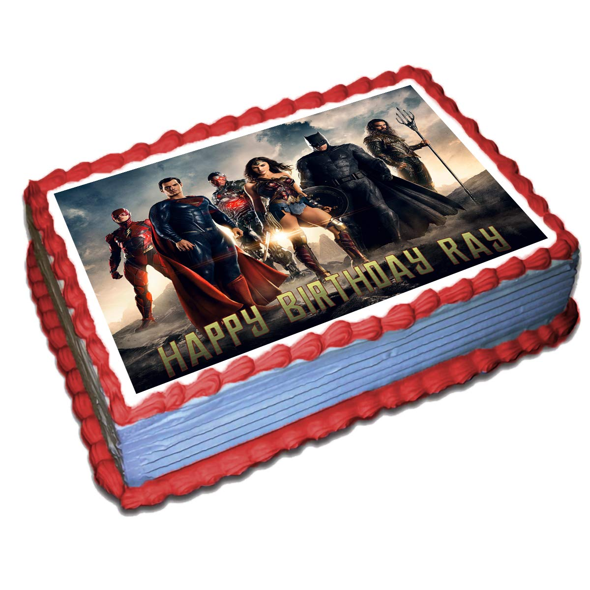 Justice League Edible Cake Topper Image Decoration Party frosting icing sheet
