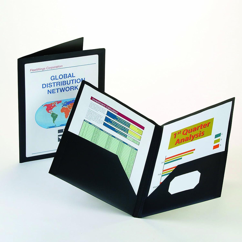 Oxford Viewfolio Twin Pocket Folders, Letter, Black Esselte Canada 57442C