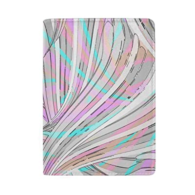 ColourLife Abstract Swirl Print Leather Passport Holder Cover for Men Women