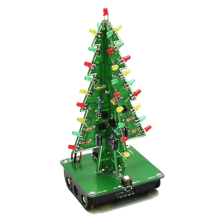 Amazon.com: Gikfun 3D Christmas Trees LED DIY Kit Flash LED Circuit EK1719:  Computers & Accessories