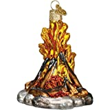 Old World Christmas Campfire Glass Blown Ornament