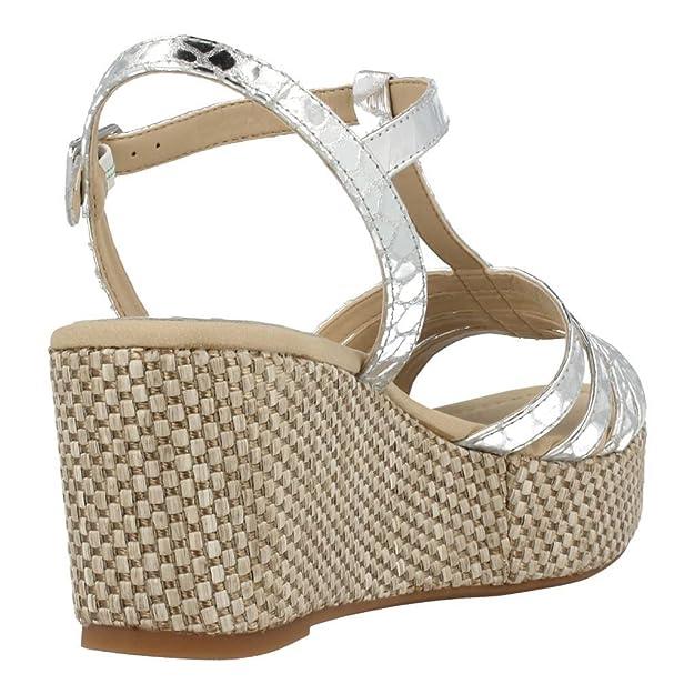 Mujer es Kusono Y Plata 40 Sandalias Snm Zapatos Unisa Amazon wZIvHq