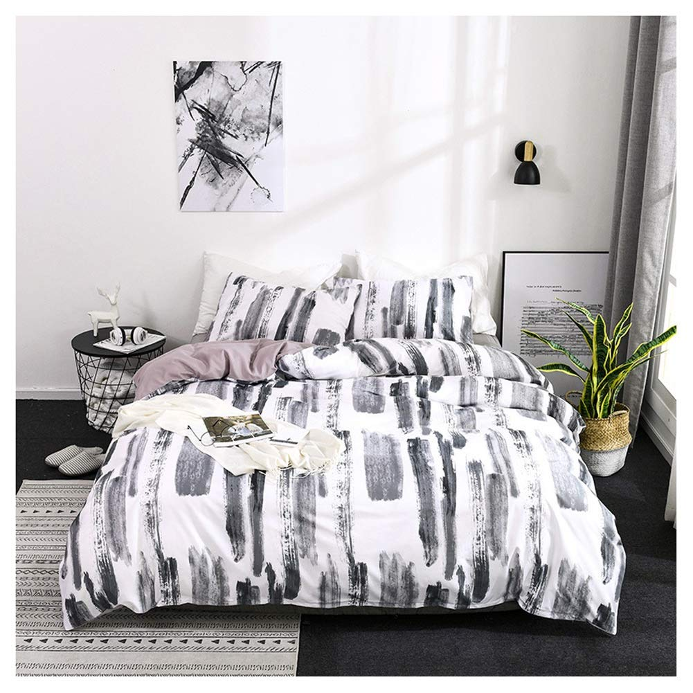 Bedding Duvet Cover Set Duvet Cover Set Bedding Set with Pillowcases Nordic Washable Easy Care 3D Printing for Girl Bedroom (Color : A, Size : 180x210cm) by OZYN-Duvet Covers