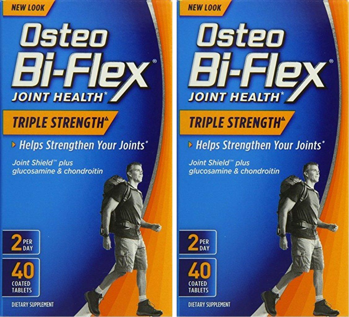 Osteo Bi-Flex Triple Strength, 40 Coated Tablets (2 Pack) by Osteo Bi-Flex