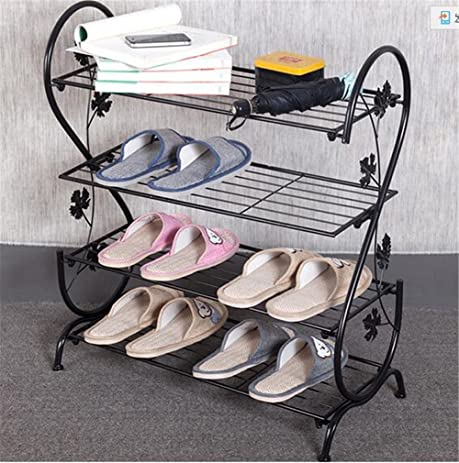 aishn continental iron multilayer simple shoe rack storage metal small four quarters shoe stand
