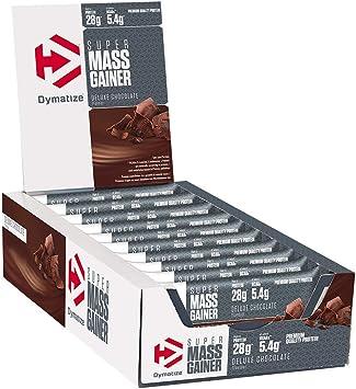 Dymatize Super Mass Gainer Bar Chocolate 10x90g - Barra de alto Peso Proteínico + Suero y Proteína de Caseína