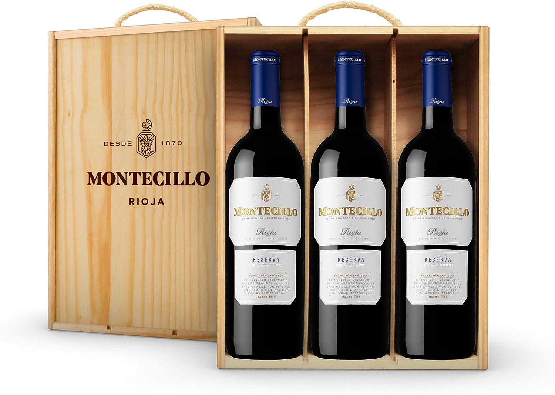 Vino Tinto D.O. Rioja Montecillo Crianza - estuche de madera de 3 botellas de 75 cl - Total: 225 cl: Amazon.es: Alimentación y bebidas