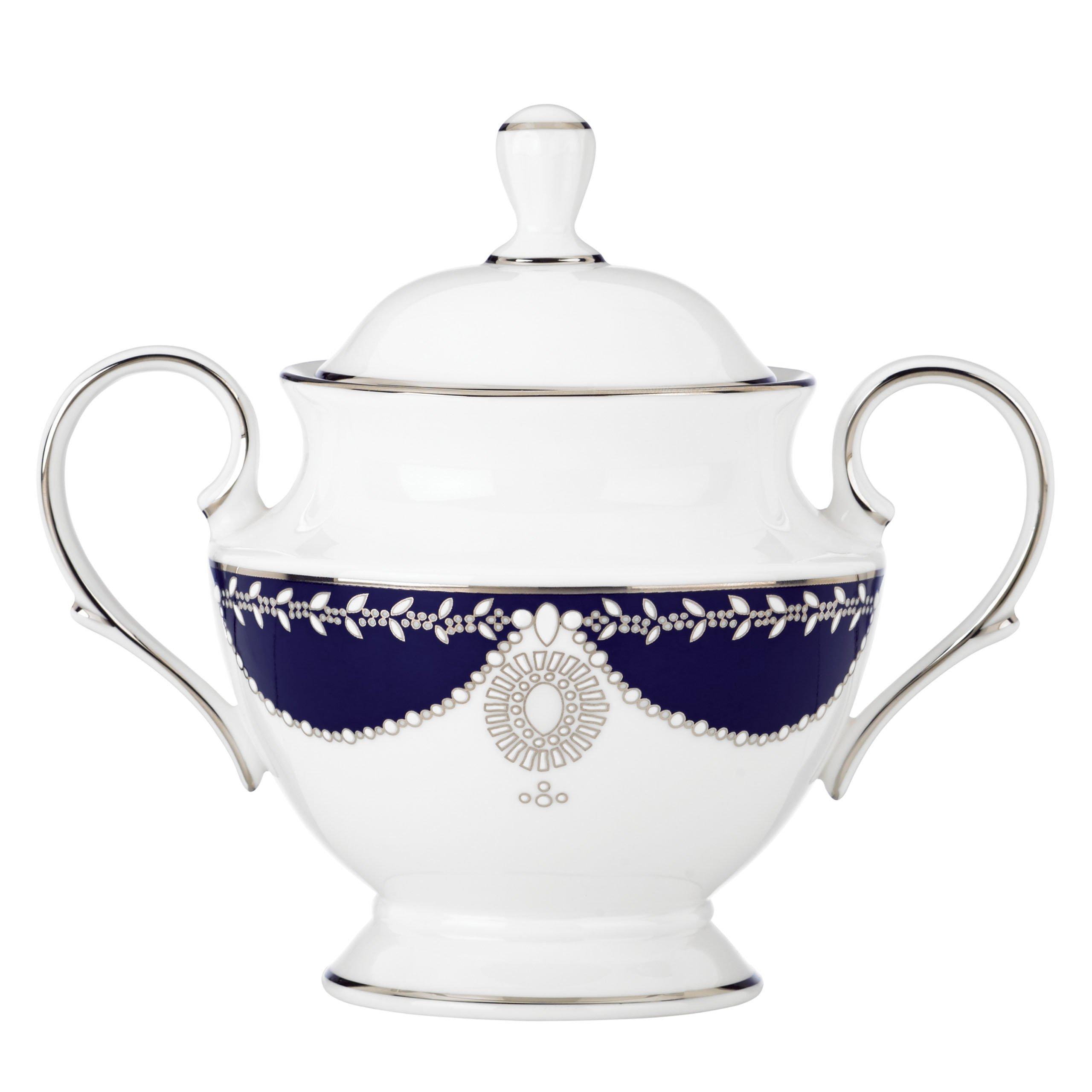 Lenox Marchesa Empire Sugar Bowl, Pearl Indigo by Lenox (Image #1)