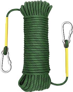 Gonex - Cuerda de Escalada estática de 8 mm de Seguridad, Alta Resistencia, para Exteriores, Senderismo, Fuego, Escape, 32 pies, 64 pies, 96 pies