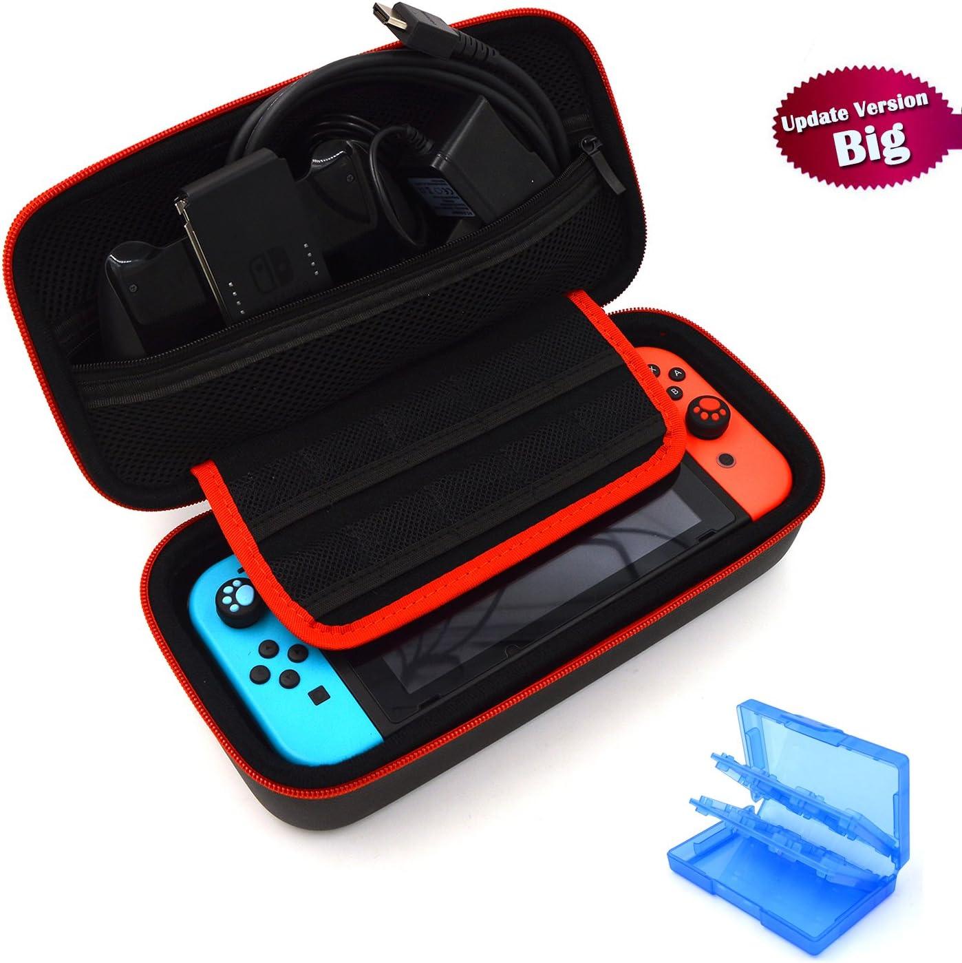 Nintendo Switch Funda - EOVOLA Dura Estuche Bolsa Carcasa de Transporte EVA para Switch Accesorios / Consola - Alta Capacidad Nintendo Switch Carcasa con 27 in 1 Estuche De Juegos: Amazon.es: Videojuegos