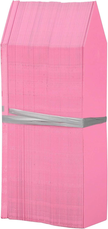 KINGLAKE 100 Pcs 4 Inch Pink Plastic Plant Nursery Garden Labels Pot Marker Garden Stake Tags
