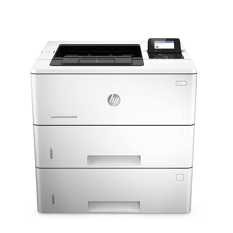 Hewlett Packard LJ Enterprise M506DN - Impresora láser monocromo, color blanco