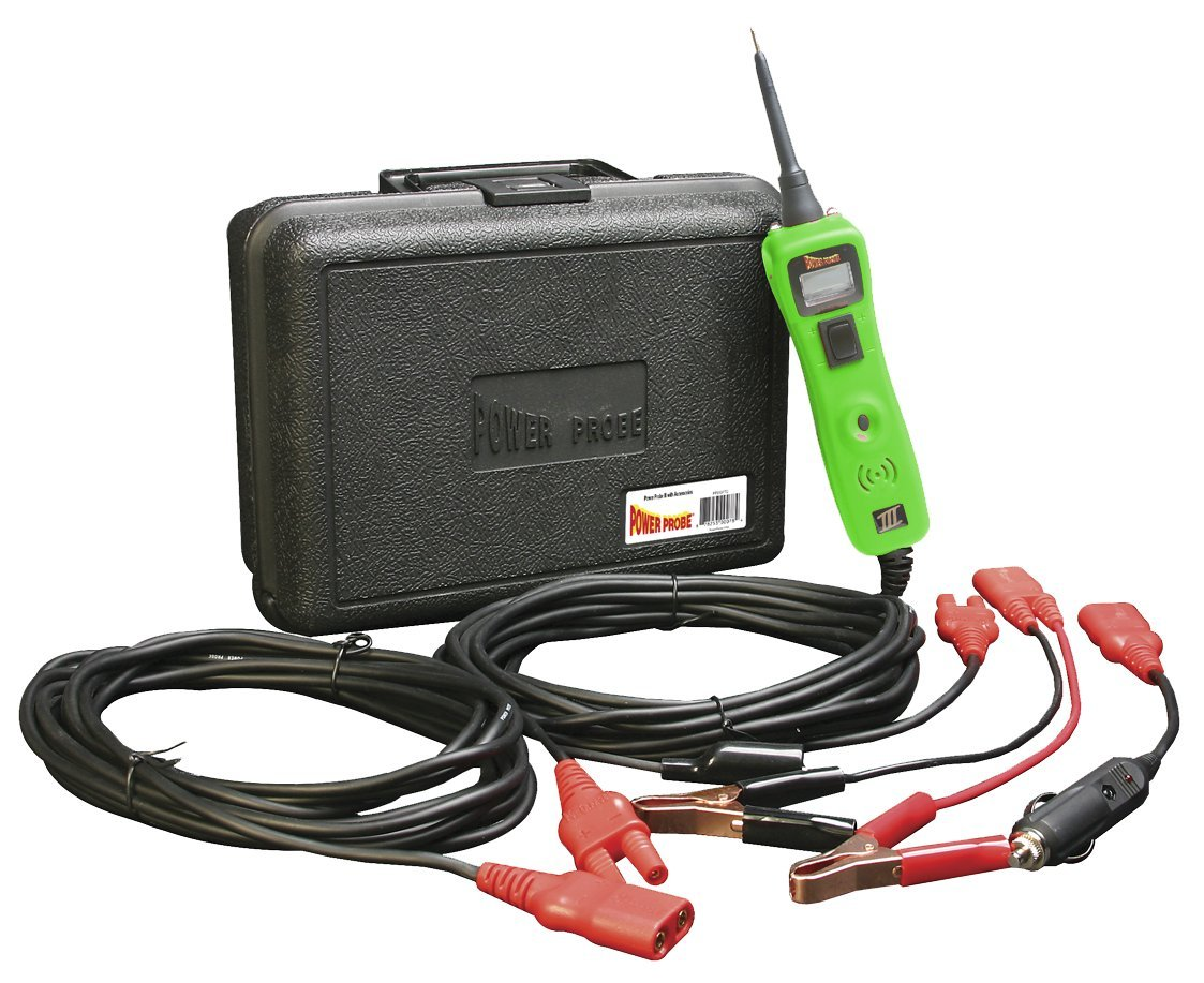 Power Probe III w/Case & Acc - Green (PP319FTCGRN) [Car Automotive Diagnostic Test Tool, Digital Volt Meter, ACDC Current Resistance Circuit Tester]
