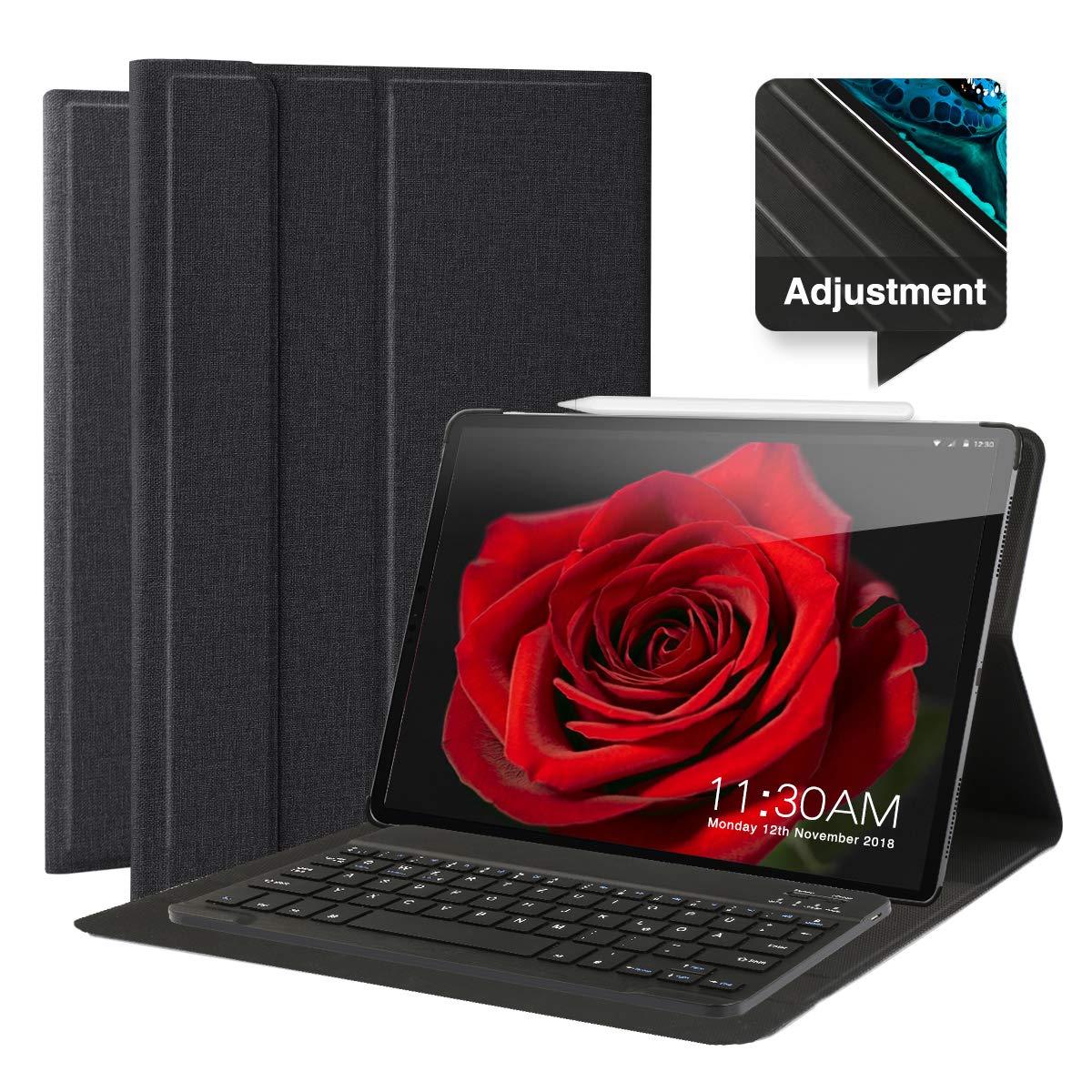 お気にいる Feelkaケースfor iPad iPad Pro Pro 11インチ保護スタンド付きドイツBluethoothキーボードQWERTZワイヤレス取り外し可能磁気ブラックブラック B07KTQT7KX, GCJ_STORE:278f393d --- a0267596.xsph.ru