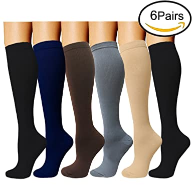 Compression Socks For Women and Men(6 Pairs) - Best Medical, Nursing,