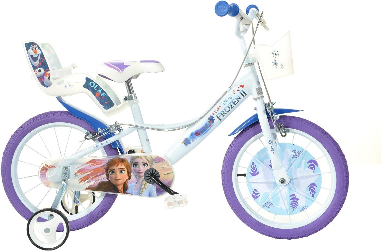 Dino Bikes Bicicleta Frozen II 16 Pulgadas: Amazon.es: Juguetes y ...