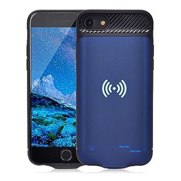Qi - Carcasa de batería para iPhone 6 6S 7 8, 3800 mAh, batería de Carga inalámbrica portátil, batería Externa, batería Recargable, batería Externa ...
