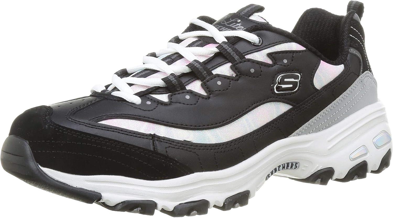 Skechers Sport D'Lites Cotton Candy Women's Gray Bombing free shipping Fashionable Black Sneaker