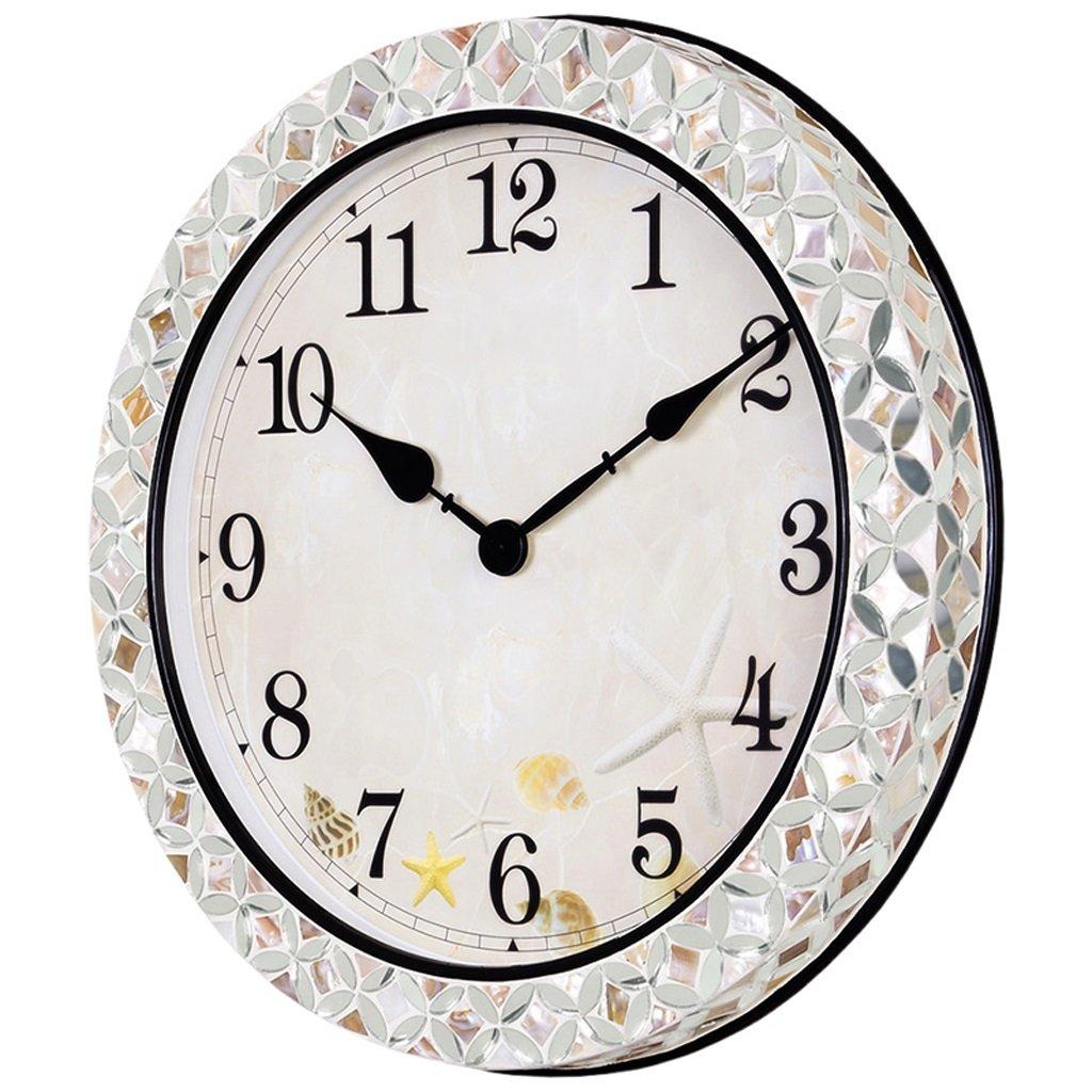 掛け時計 クリエイティブクォーツウォールクロックミュートベッドルームクロック現代ミニマルリビングルームウォールクロック Rollsnownow B07C8H43VY