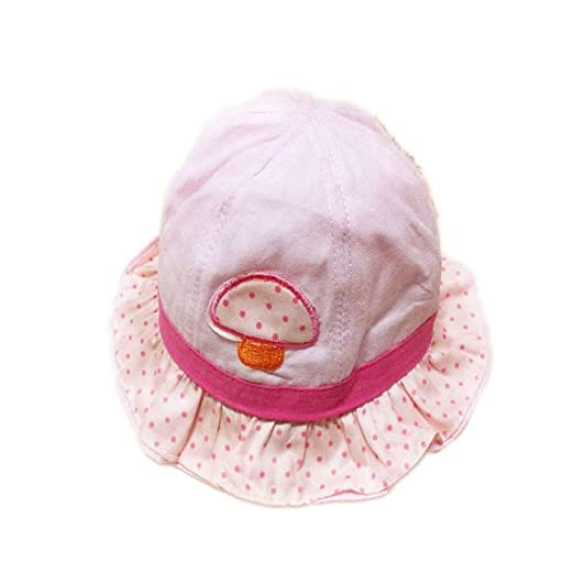 Amazon.com  Rejected all traditions Baby Girls Cotton Embroidered Mushroom  Design Bucket Wide brim Sun Hat - Light Pink  Baby 3d5ffc17e75