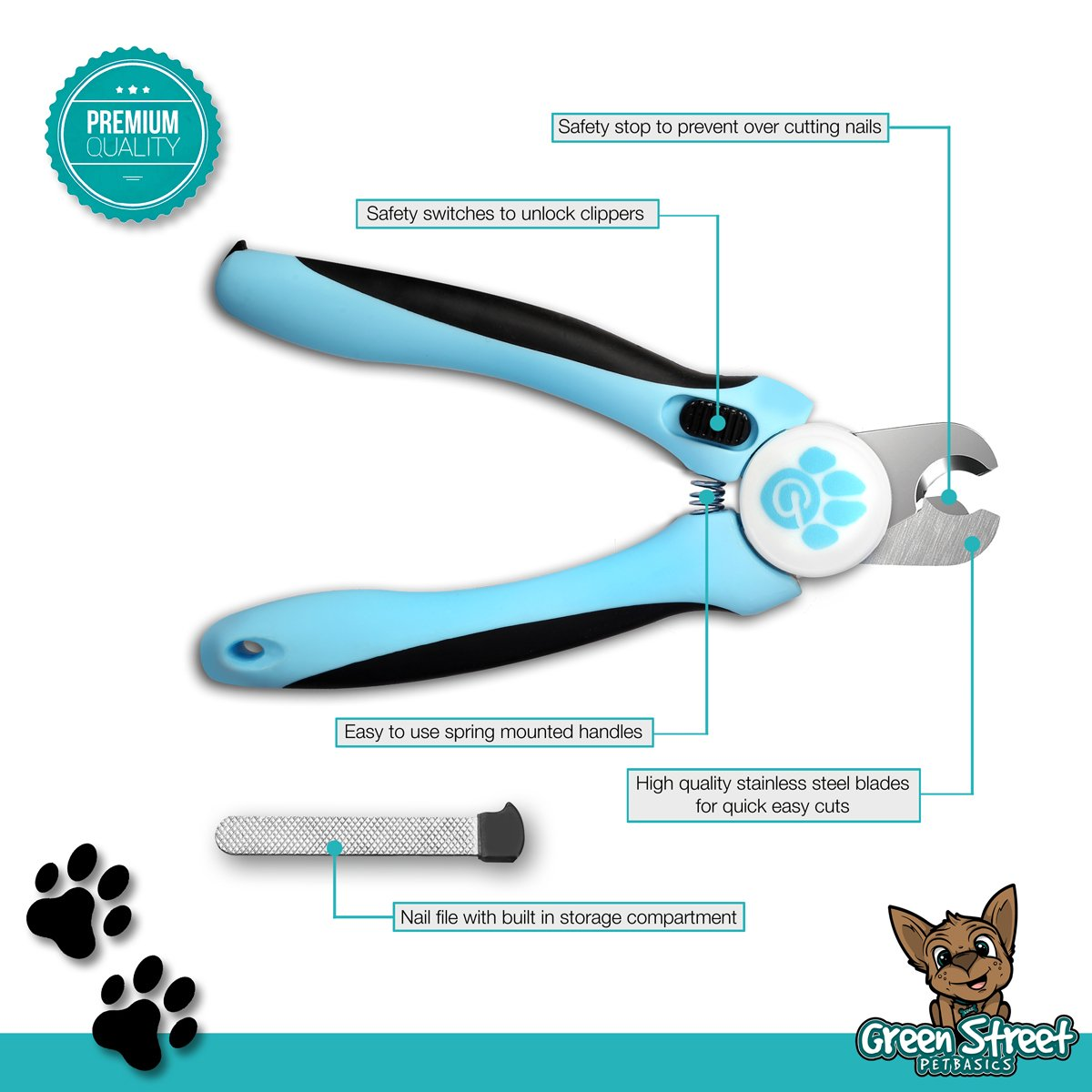 Amazon Green Street Pet Basics Dog Nail Clippers with Nail File