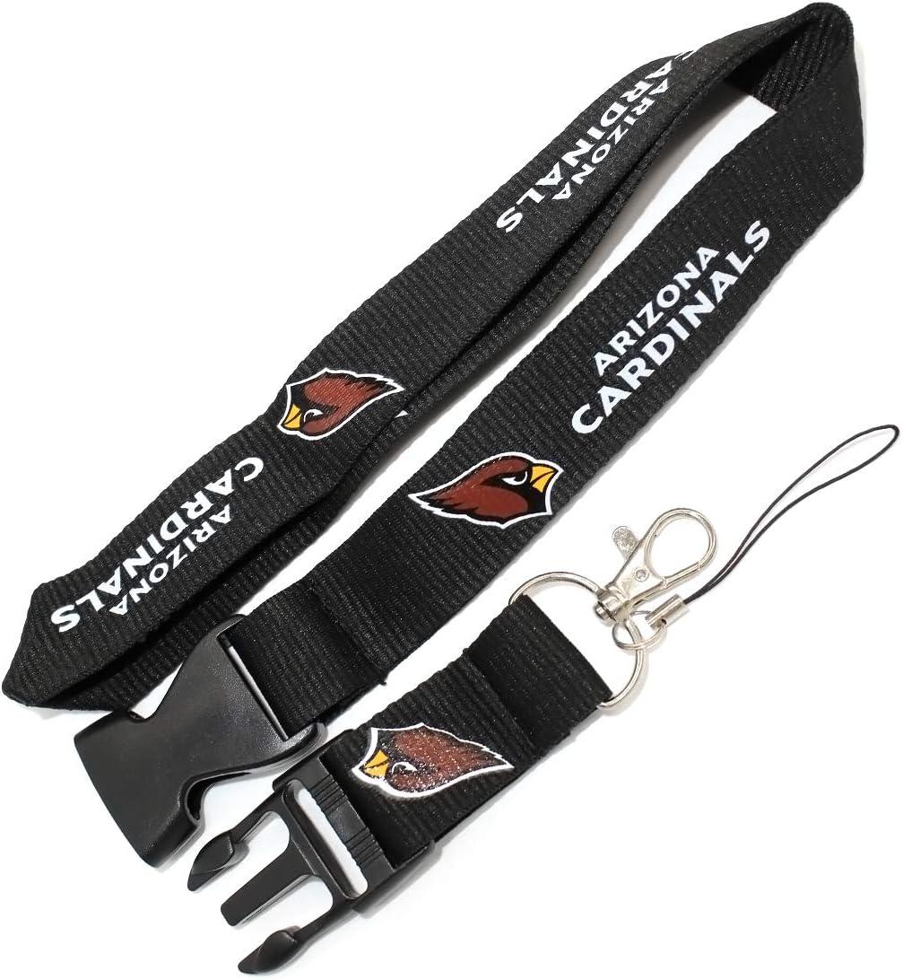 Arizona Cardinals Wall Stickz Atuo Parts NFL Lanyard Mobile Phone Work Card Key Hanging Neck for