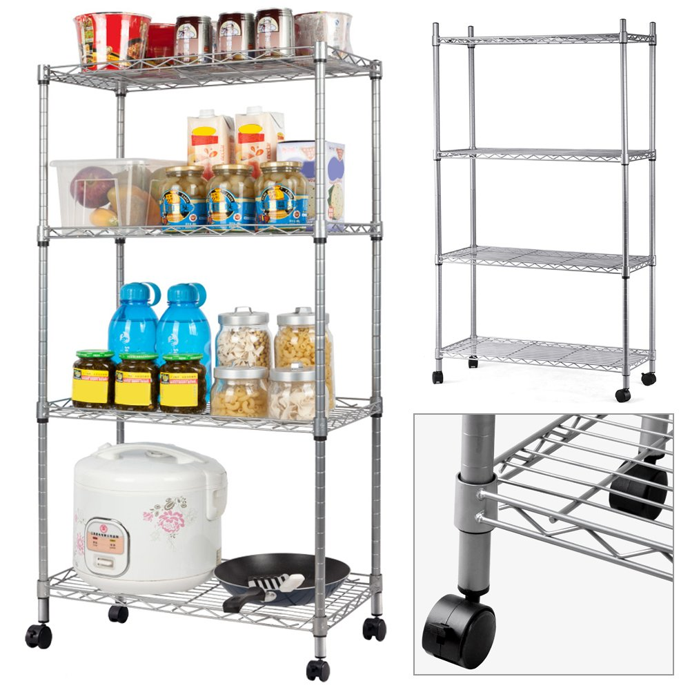 MULTI PURPOSE 4 tier carbon steel wire steel shelving unit