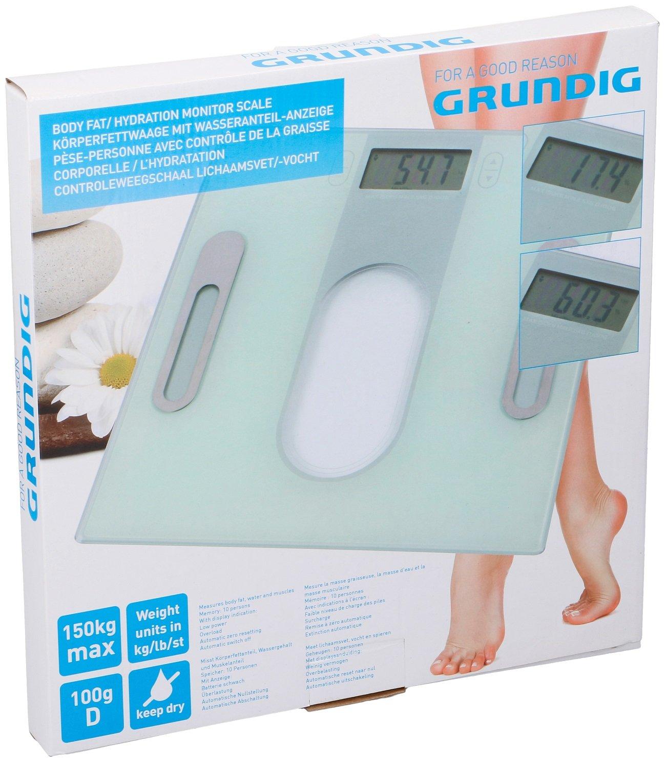 Báscula Báscula 30 x 40 x 2 cm Grundig: Amazon.es: Salud y cuidado personal
