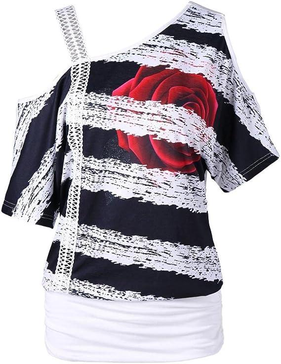 Blusas Camisetas Mujer Tallas Grandes, Camisetas Mujer Verano Blusa Mujer Elegante Camisetas Mujer Manga Corta Algodón Camiseta Mujer Camisetas Mujer ...