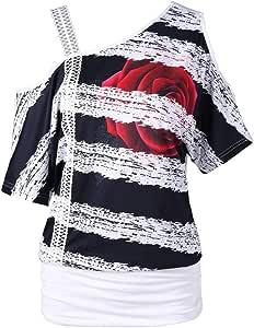 Blusas Camisetas Mujer Tallas Grandes, Camisetas Mujer Verano ...