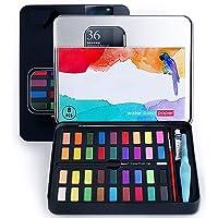 SERENDIPITY SPACE Pintura de Acuarela, con 36 Colores, se combina con lápiz de carbón, Pincel de Acuarela y Papeles de Acuarela para Pintura, diseño artístico y Juegos de Regalo